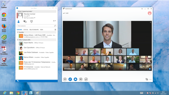 Skype for Business(Lync)と接続