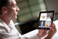 iPadでWebカンファレンス風景