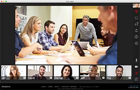 ウェブ会議システムBlueJeans画面レイアウト PC