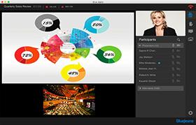 ウェブ会議システムBlueJeans画面レイアウト 資料共有