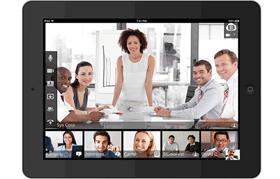 ウェブ会議システムBlueJeans画面レイアウト タブレット端末