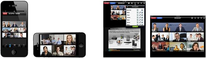 カンファレンスサービス:スマートフォン・タブレット端末の接続イメージ